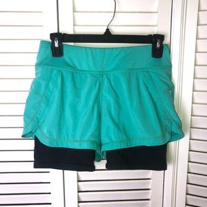Athleta Ready Set 2 in 1 Layered Running Shorts